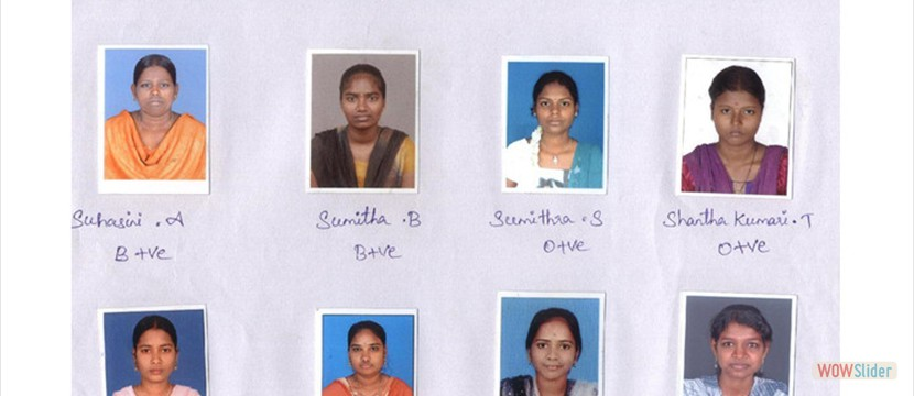 Some of the Scholarship Recipients at Sarva Vidya